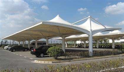 停车棚膜结构优越性能